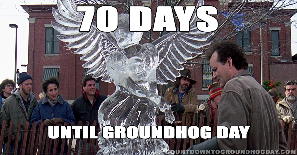 70 days until Groundhog Day