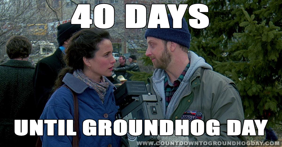 40 days until Groundhog Day