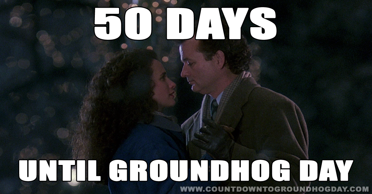 50 days until Groundhog Day