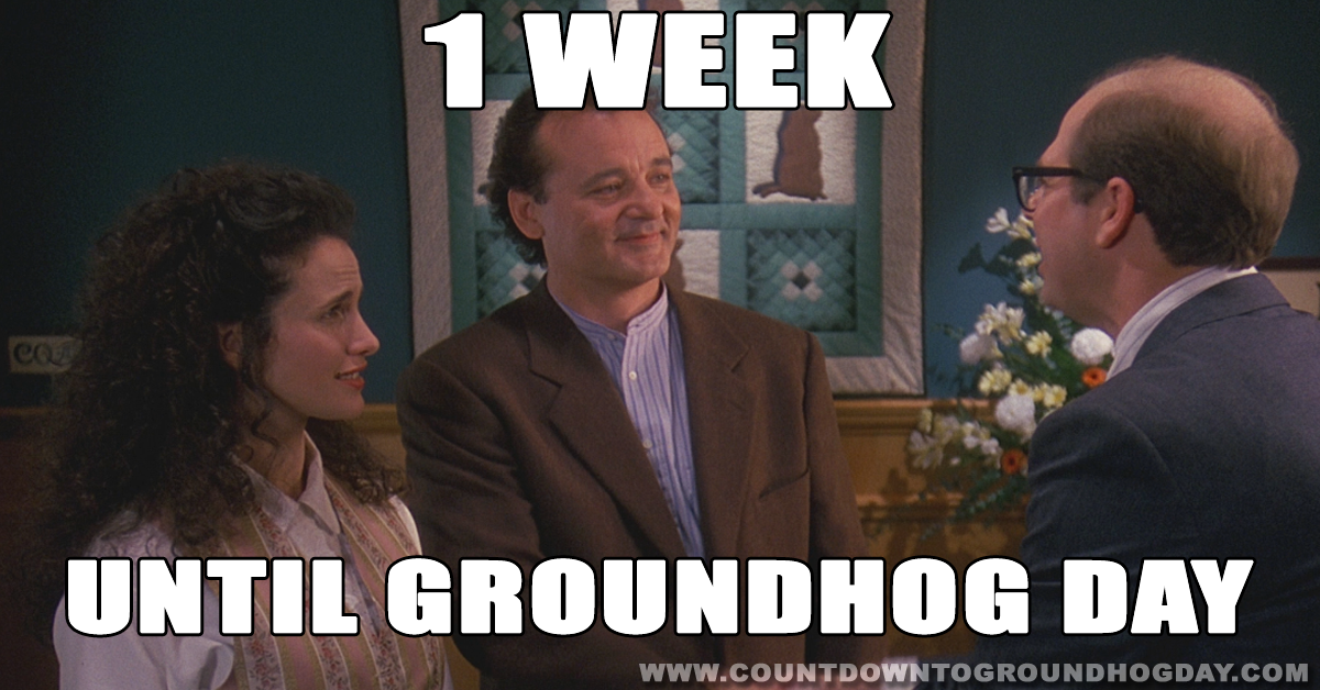 One week until Groundhog Day