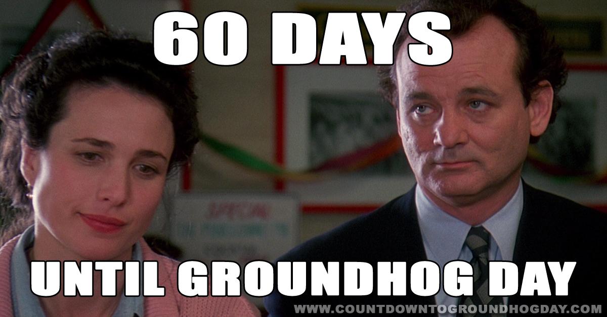 60 days until Groundhog Day