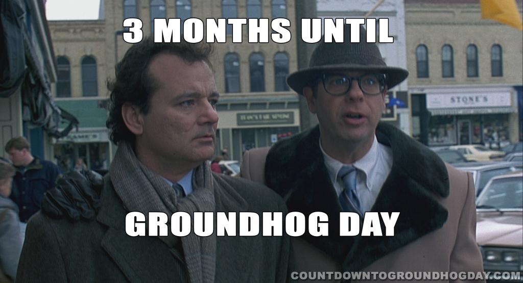 3 months until Groundhog Day