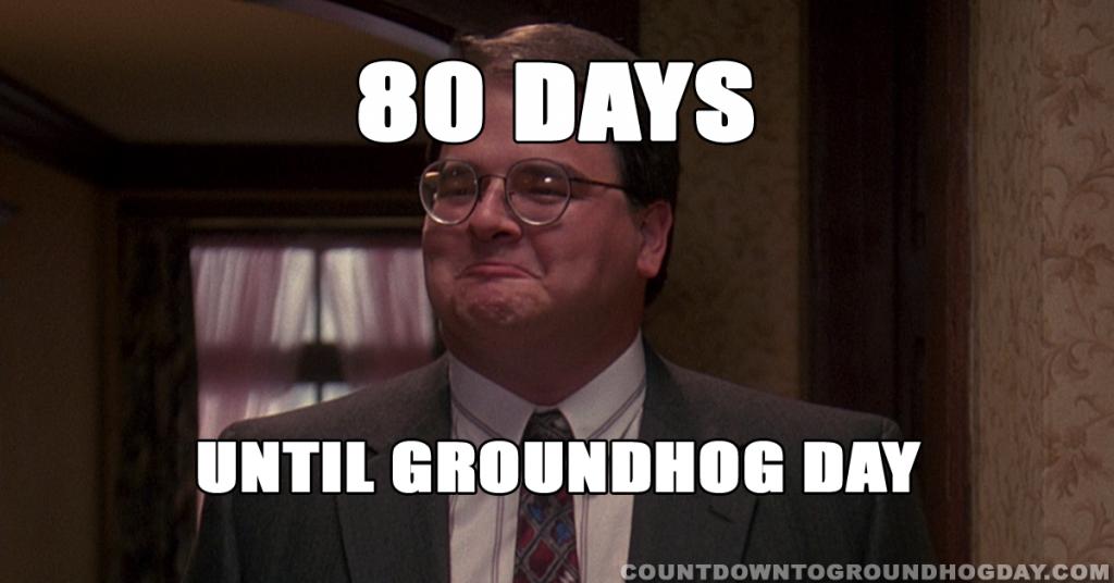 80 days until Groundhog Day
