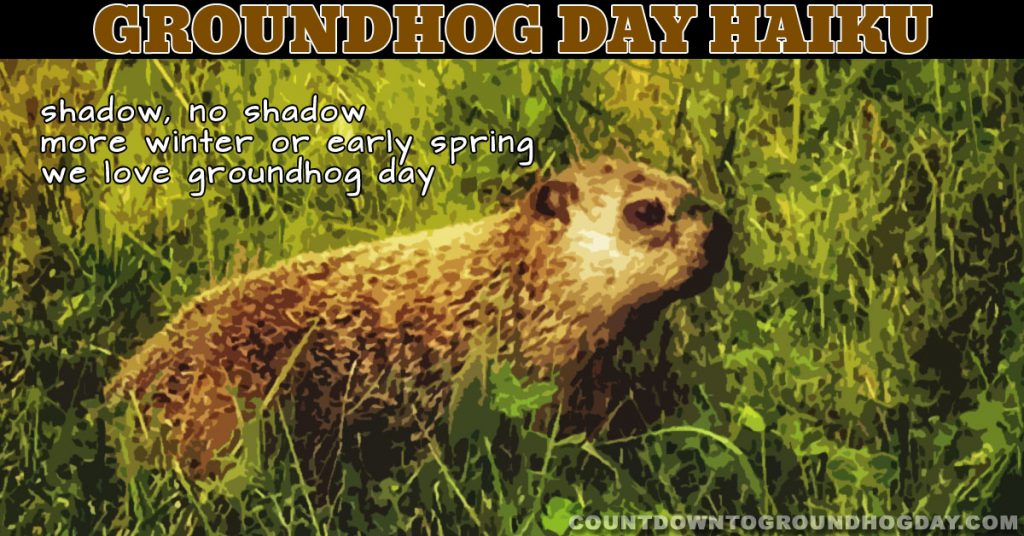 shadow, no shadow more winter or early spring we love groundhog day