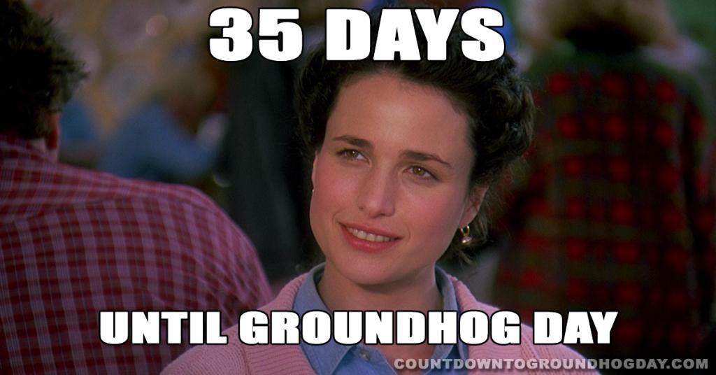 35 days until Groundhog Day