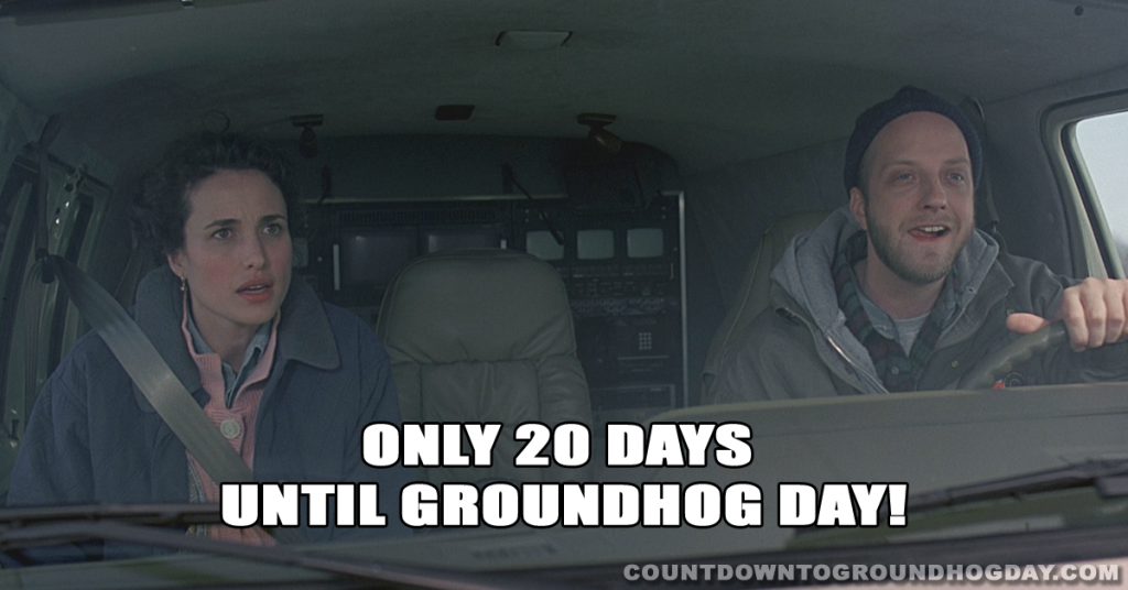 20 days until Groundhog Day