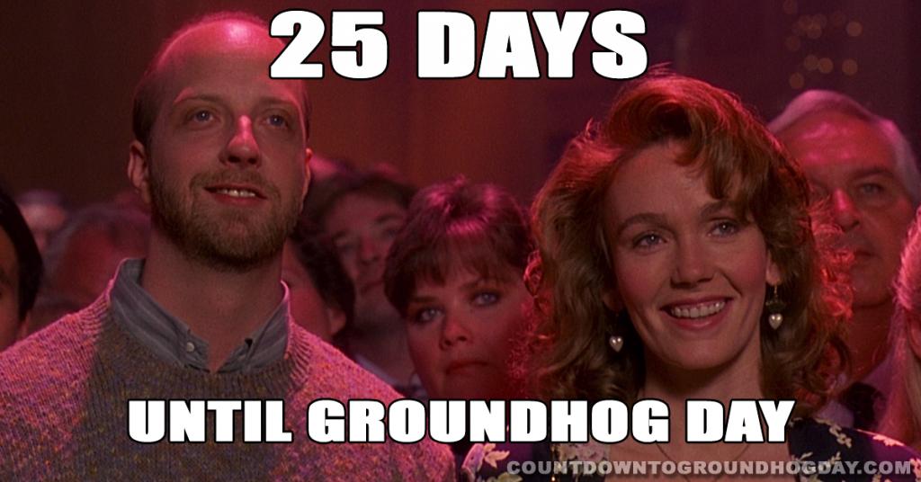 25 days until Groundhog Day