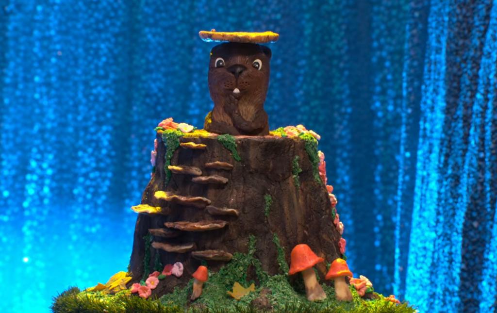 Pop-Up Groundhog Cake