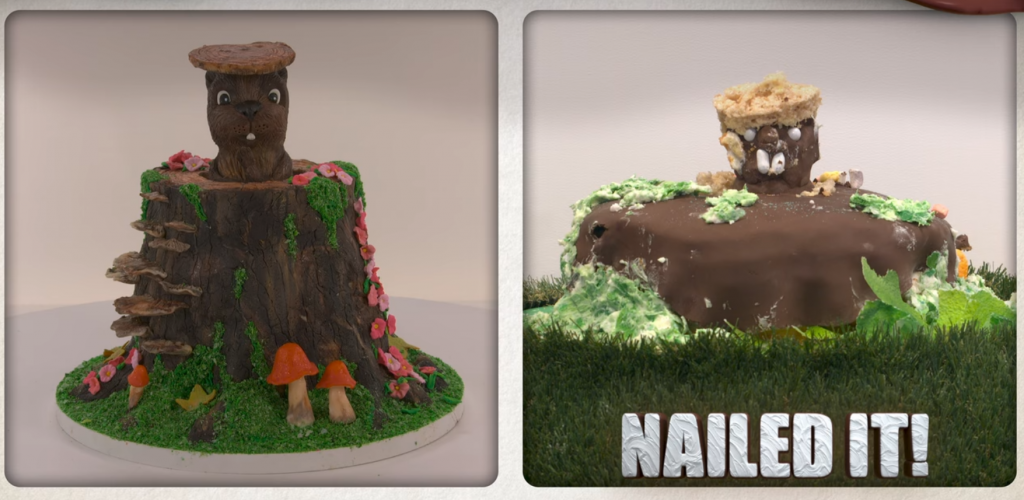 Pop-Up Groundhog Cake entry